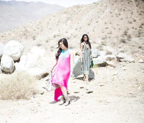 An Dyer & Sheryl Luke at the BCBGMaxazria Benefit Beauty Bungalow Coachella 2013