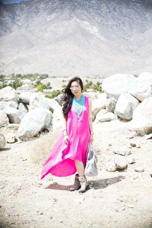 An Dyer at the BCBGMaxazria Benefit Beauty Bungalow Coachella 2013