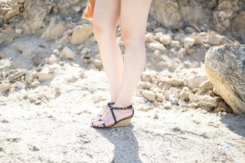 An Dyer wearing ShoeDazzle Lia