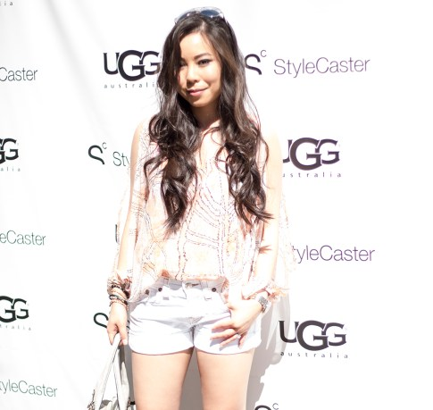 HautePinkPretty An Dyer wearing Lovers Friends LA & True Religion at the StyleCaster UGG Coachella Party LetsGetLost