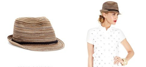 MIX STRAW FEDORA