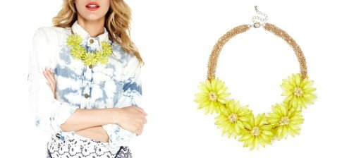 OVERSIZED FLORAL NECKLACE