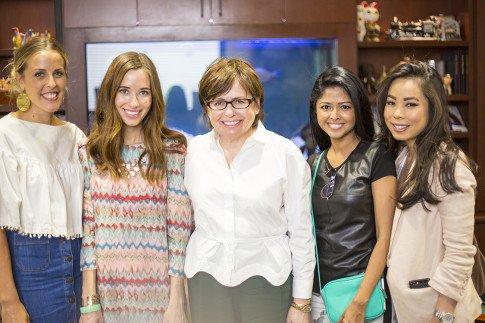 Vogue Influencers Visit OPI Headquarters - Beth Jones BJonesStyle, Marra Ferreira MLovesM, Suzi Weiss-Fischmann OPI, Sheryl Luke WalkInWonderland, An Dyer HautePinkPretty