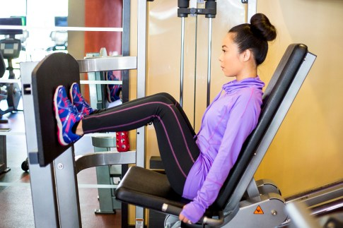 An Dyer Gym Style Fitness Fashion - Ryka Influence & Apparel - Seated Leg Press