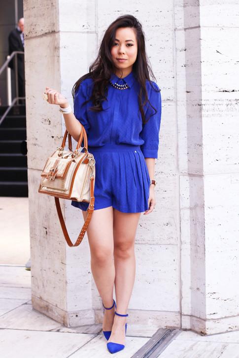 NYFW Spring 2014 Street Style by ryanbyryanchua An Dyer HautePinkPretty wearing Harlyn Label & Brahmin & JustFab Monroe