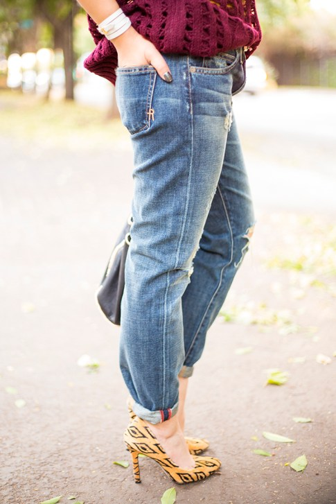An Dyer wearing Rich & Skinny The Boy & Girl Jeans