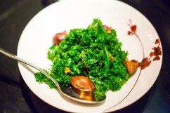 Fresh Kale with Crispy Shiitake Mushroom Salad