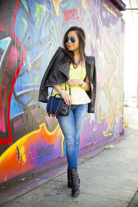 Silverlake Los Angeles Edgy Street Style Outfit