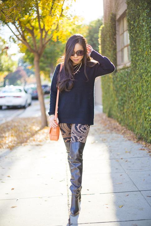 Rose Gold & Black Fall Outfit Idea