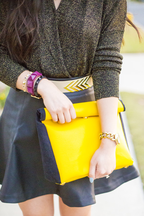 Mustard Leopard & Black Outfit