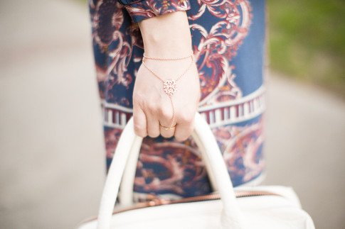 Mason Grace Jewelry Rose Gold Hand Chain