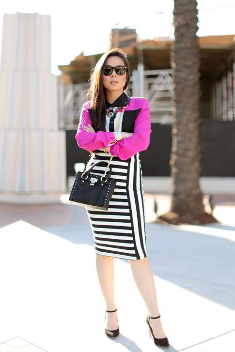Pencil Skirt Street Style
