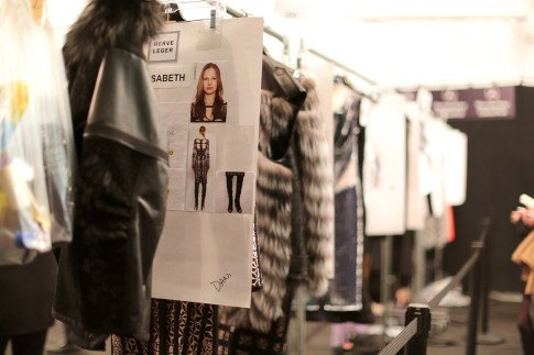 Herve Leger AW14 Backstage Behind The Scenes Clothing