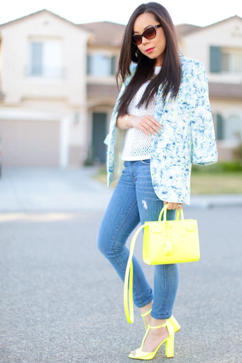 neon yellow street style