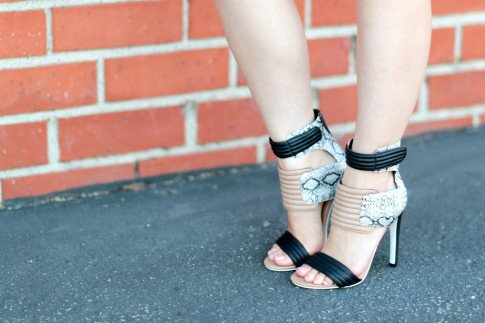 Blogger Wearing ShoeDazzle Rayna