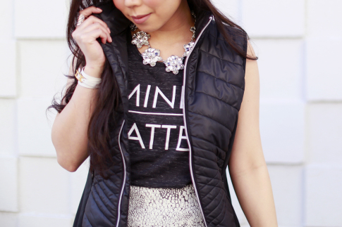 Puffy Quilted Vest Fall Winter Style