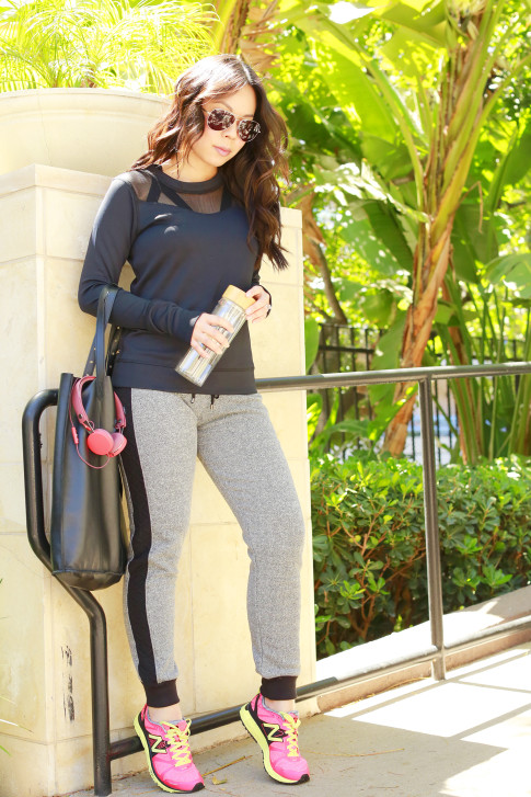 An Dyer wearing ALALA NEOPRENE SWEATSHIRT with MICHI FRONTIER SWEATPANT and New Balance 1500v1