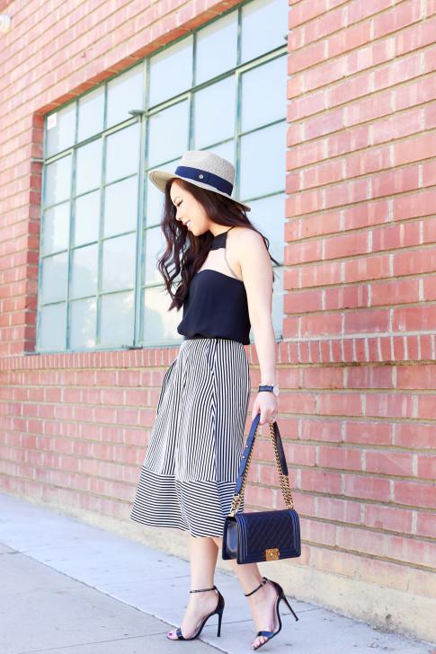 Panama Hat Chanel Boy Bag Street Style