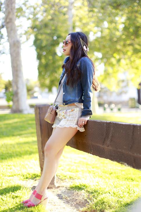Coachella Street Style Denim Jacket Shorts