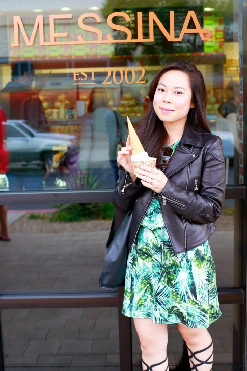 An Dyer Food Blogger at Messina Gelato Downtown Summerland Las Vegas
