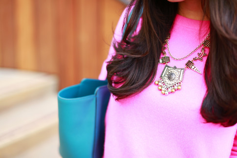 An Dyer wearing Juliet Co Statement Tribal Necklace