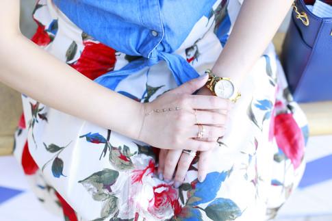 An Dyer wearing My Jewel Bar Hand Chain