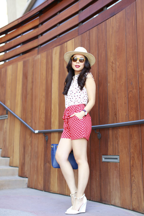 An Dyer wearing Panama Hat Triple Graces Yellow Sunglasses St Scott London and Lauren Conrad Disney Kohls