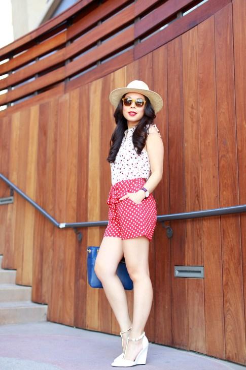 An Dyer wearing Panama Hat Triple Graces Yellow Sunglasses St Scott London and Lauren Conrad Disney Kohls