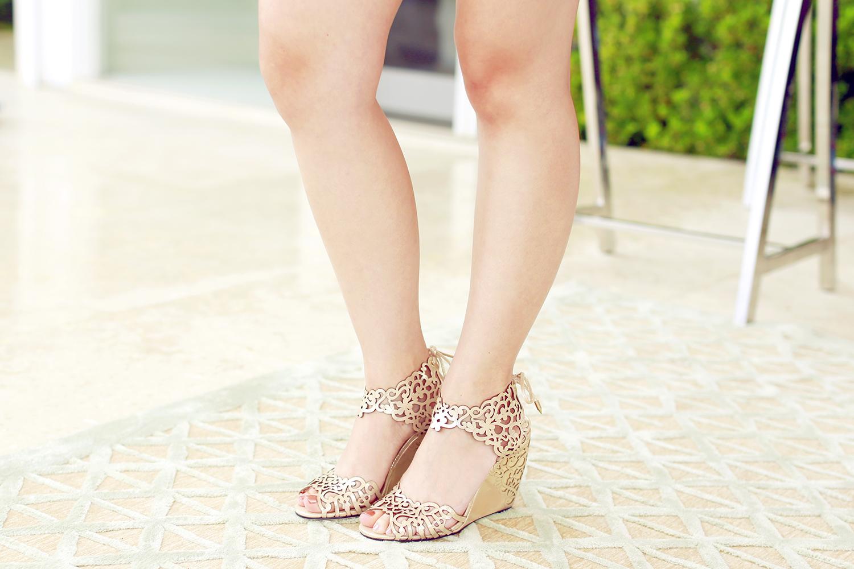 Klub Nico Moxie Laser Cutout Wedge Sandal