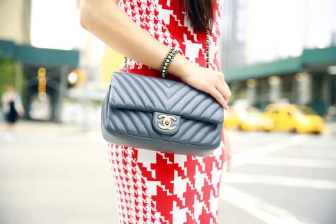 An Dyer NYFW SS16 Street Style Chevron Chanel