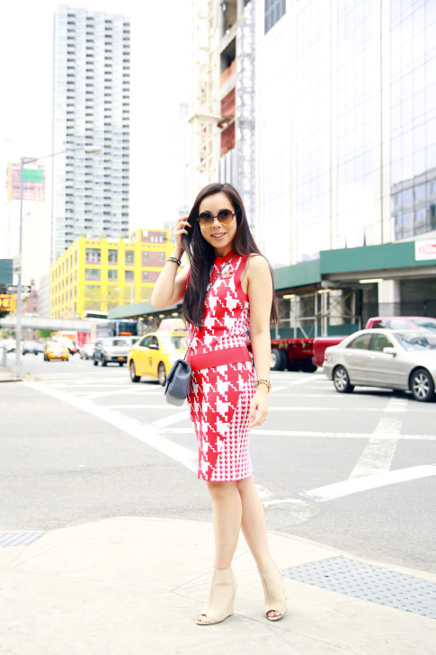 An Dyer NYFW SS16 StreetStyle Chanel Brooch Chevron Flap, Vassallo Houndstooth, ShoeDazzle