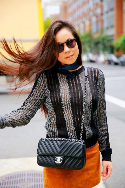 An Dyer NYFW Street Style SS16 hair flip