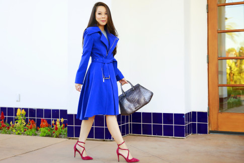 An Dyer for B C B Generation Blue Coat Fit Flare