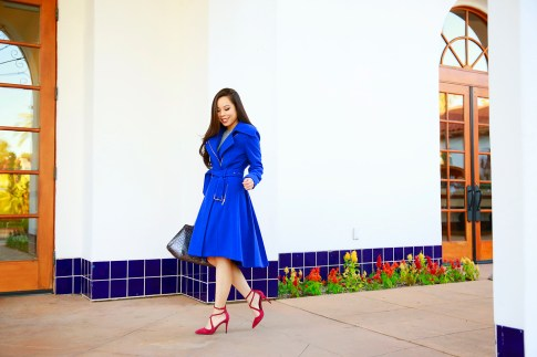 An Dyer for BCBGeneration Blue Coat Fit Flare