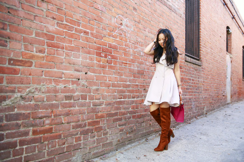 An Dyer wearing ChicWish Trench Dress