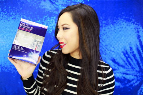 #1) CVS Platinum Whitening Kit is obviously a given to kick start your brighter smile! It includes a soft mouth tray that is comfortable to wear and doesn't need any heating or molding. The tray is pre-filled with the minty whitening mixture to keep it easy, so that you won't have to deal with a messy application! The formula also includes potassium nitrate to reduce any discomfort/tooth sensitivity that sometimes happens with teeth whitening. You only have to use it for 20 minutes to already see results! (Oh and the kit comes with two extra treatments pre-filled in an easy-to-use syringe for the next time you want to use it!)