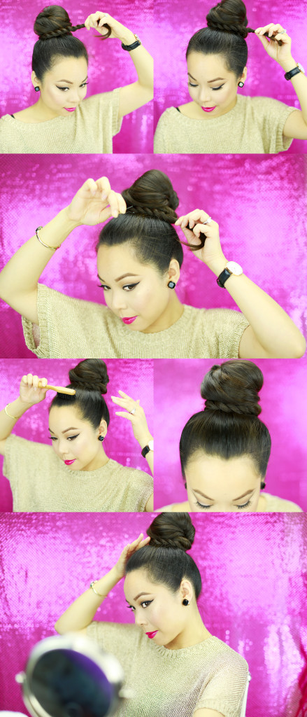 Rope Braid Bun Tutorial 4