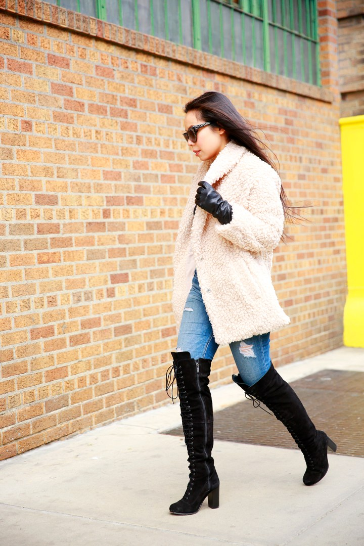 An Dyer at NYFW Street Style Willow and Clay Coat