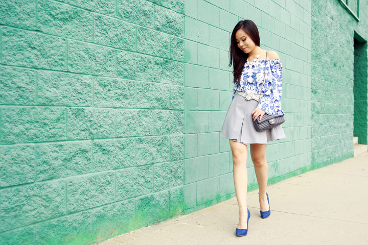 An Dyer wearing IvyRevel, Chanel & JustFab