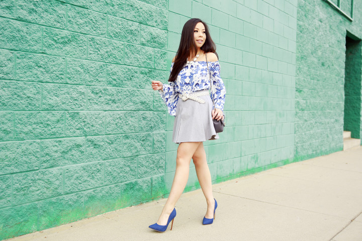 An Dyer wearing IvyRevel & JustFab