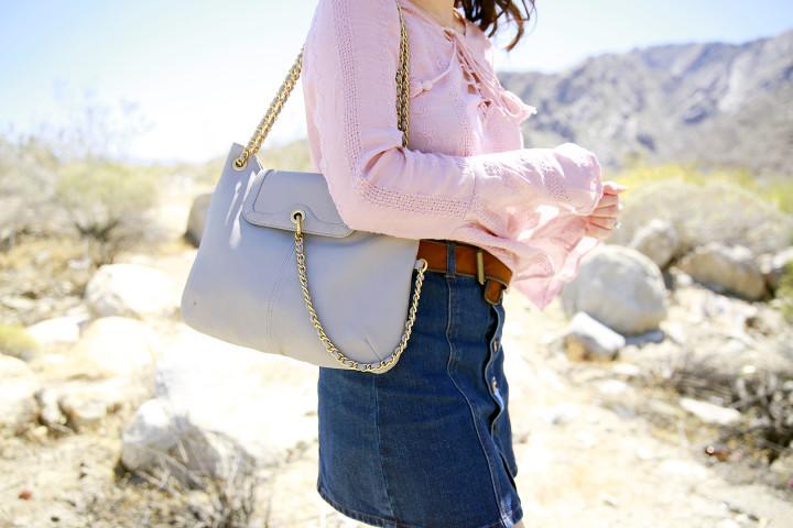 An Dyer wearing Sarah Jessica Parker SJP Chelsea Bag