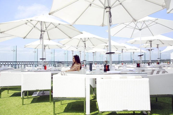 An Dyer Blogger at the Boxwood On The Roof The London WeHo Beverly Hills