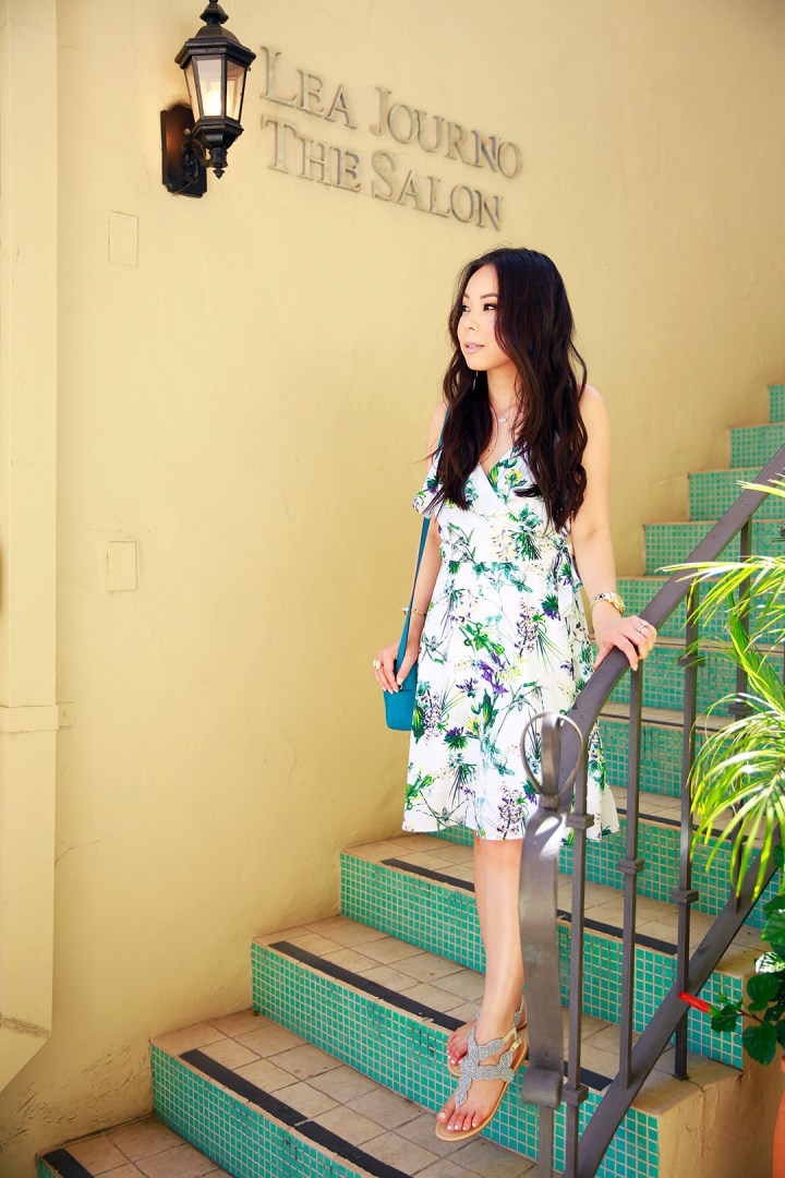 An Dyer wearing Amour Vert at Beverly Wilshire