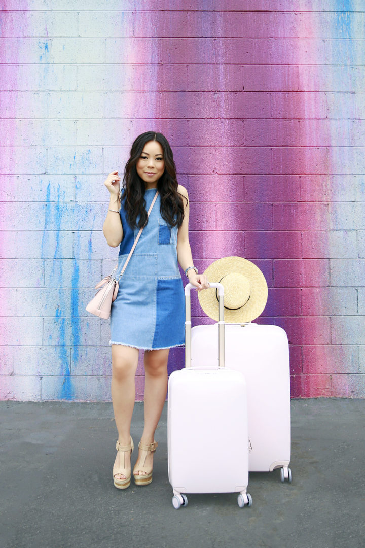 An Dyer blogger with Raden Luggage Set Review