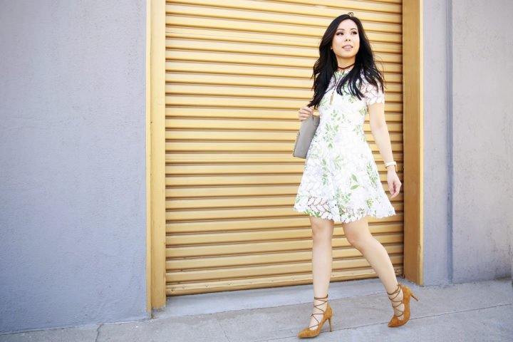 An Dyer wearing Chicwish Dress, Sole Society Lace Up Shoes