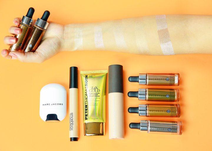 top-5-liquid-cream-highlights-cover-fx-becca-peter-thomas-roth-24k-gold-smashbox-pearl-marc-jacobs-spotlight-highlighter