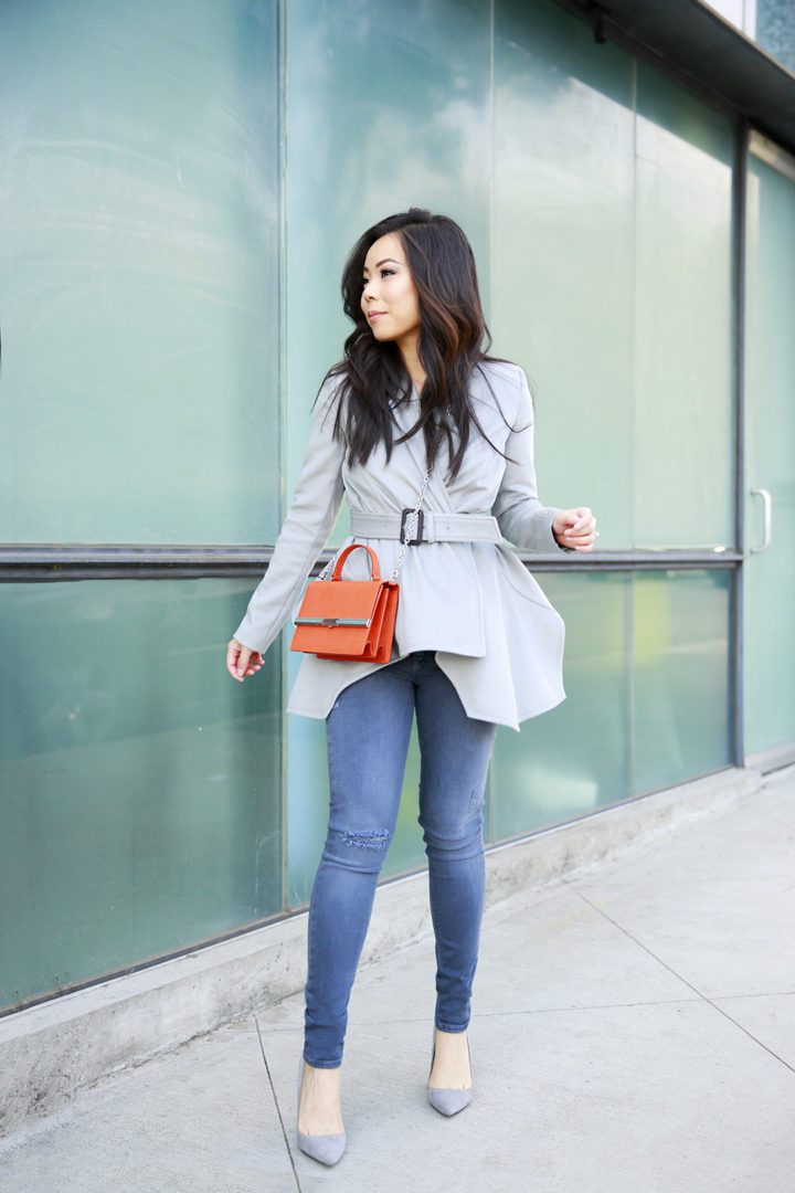 an-dyer-wearing-chris-gramer-jacket-with-ella-mchugh-patti-mandarin-orange-handbag-hudson-jeans-grey-suede-pumps
