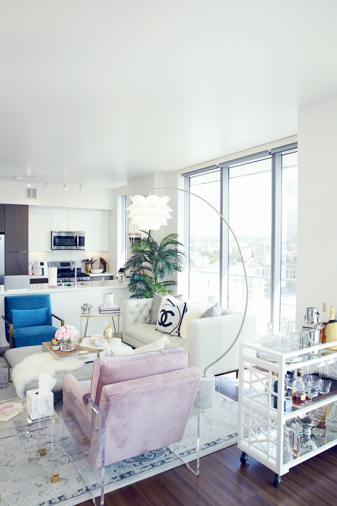 Hautepinkpretty Apartment Lighting With Lamps Plus