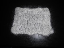 Felted Mohair Experiment - After
