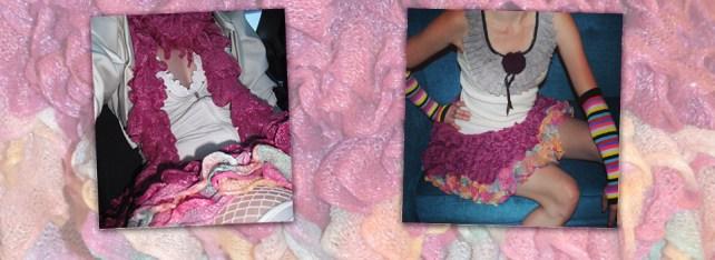Haute Revel Ruffle Skirt in Berry Blast